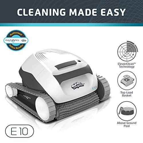 Dolphin E10 Automatic Robotic Pool Cleaner - Best Robotic Pool Cleaners