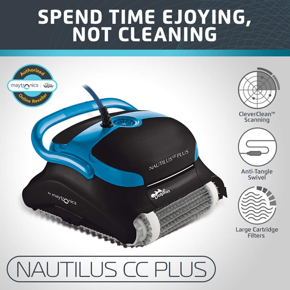 Dolphin Nautilus CC Plus Automatic Robotic Pool Cleaner - Best Robotic Pool Cleaners