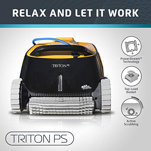 Dolphin Triton PS Automatic Robotic Pool Cleaner - Best Robotic Pool Cleaners