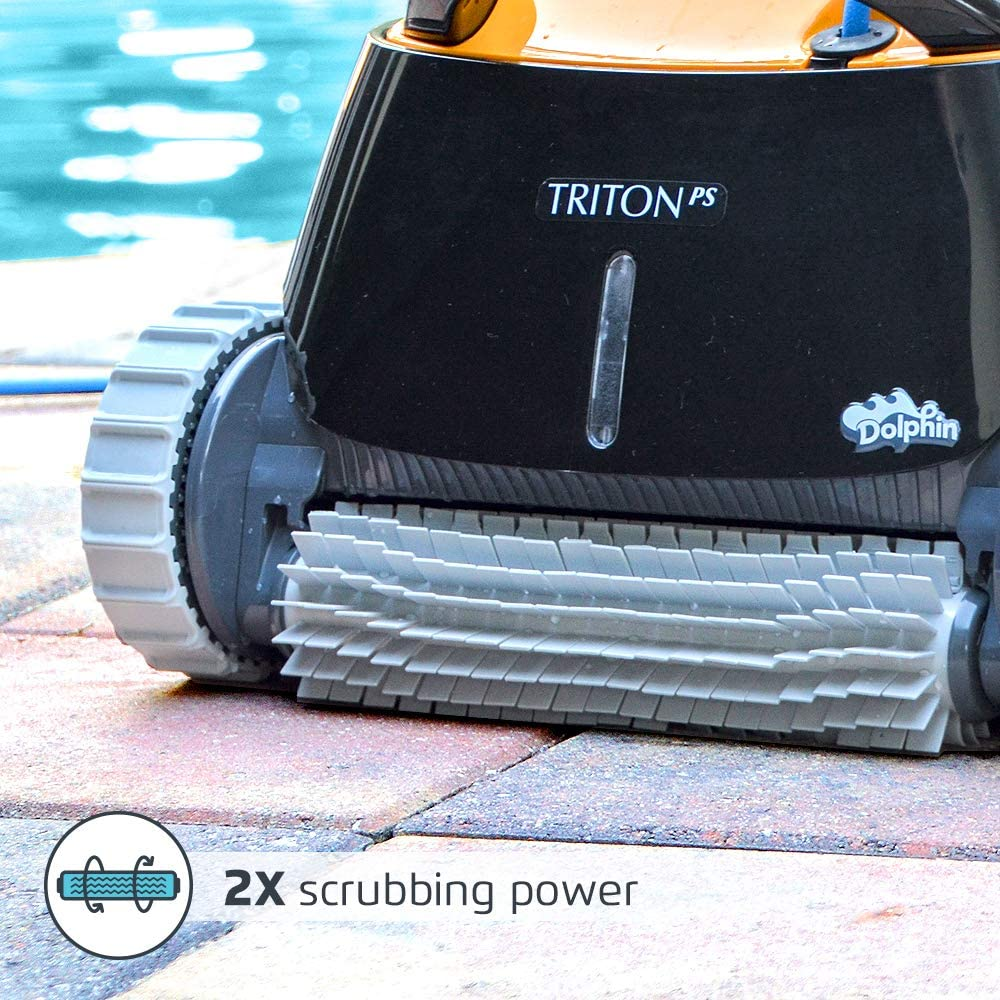 Dolphin Tritron PS Automatic Robotic Pool Cleaner-Brushes
